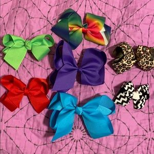 Other - BOUTIQUE HAIR BOW LOT- 1M, 3M, 3L
